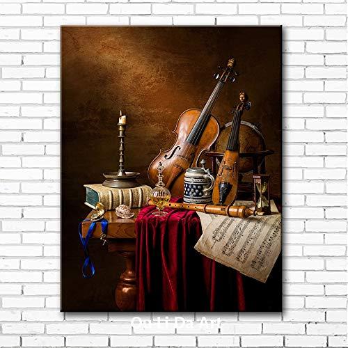 DSGTR Renderizar un Ambiente artístico, Decorar el hogar, Pintar, fotografiar, violín, Flauta, partitura, escenografía en la Parte Superior, Decorar la Pared en una posición Adecuada
