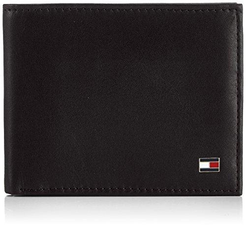 Tommy Hilfiger Herren ETON MINI CC WALLET Geldbörsen, Schwarz (BLACK 990), 11x9x2 cm