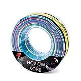 Falcon Hollow Core - Hilo de Pesca, Multicolor, 0,68 mm x 300 m