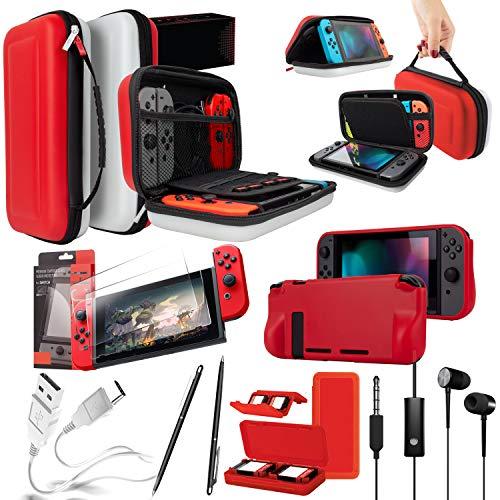Orzly Pack Accesorios Nintendo Switch Funda Viaje