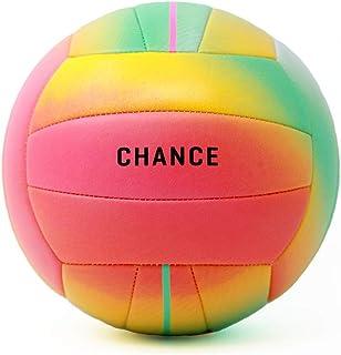توپ والیبال چرمی کامپوزیت نرم ، بالشتک ، داخل سالن / فضای باز / استخر / ساحل توپ تمرینی ضد آب ضد آب - خشخاش (اندازه 5 ، چند رنگ)
