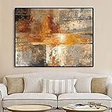 Cuadro En Lienzo Cartel de Pintura Abstracta y decoración de Pared para Sala de estar50x70cmPintura sin Marco