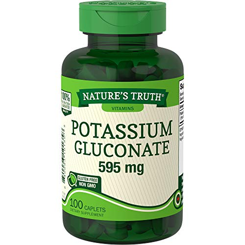 Potassium Gluconate 595mg | 100 Capsules | Vegetarian, Non-GMO, Gluten Free Supplement | by Nature's Truth