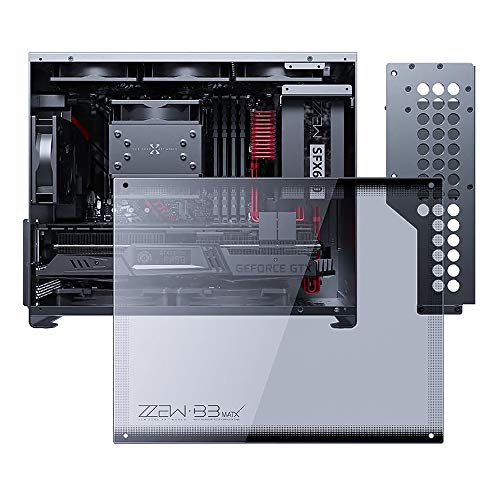 KABIOU Computer Case B3 All-aluminum Side Penetration with Tempered Glass MATX Motherboard Small Chassis in-line 30 Graphics Card SFX Power Supply 3.5 Hard Disk 2020 DIY for Gaming and Home Use