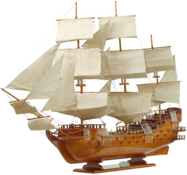 mart ZXDFG Statues Solid Wood Sailing Popular shop is the lowest price challenge Brown Boat Realistic Red Model