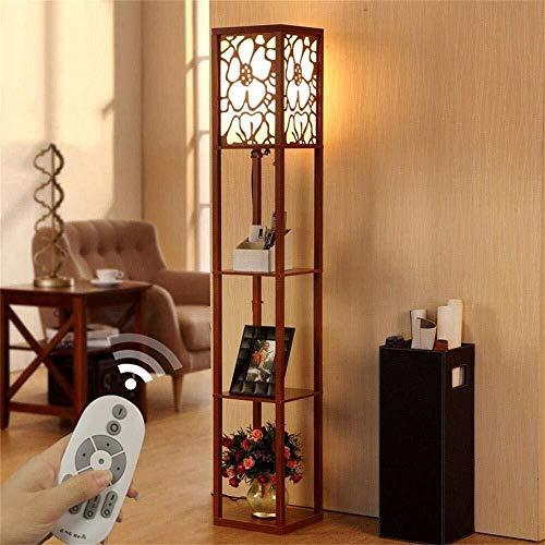 WY-YAN Stehlampe, die neue chinesische Moderne Minimalist kreativ Retro Holzbodenleuchten for Wohnzimmer Schlafzimmer Der Lampe (Color : Walnut Color)