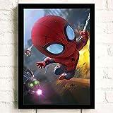 mohanshop Marvel Affiche Superman Iron Man Spider-Man Captain America Mur Artistes Décorer Chambre d'enfant Décoration Toile Peinture K772 (40X50Cm) sans Cadre