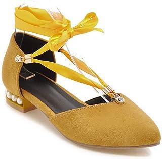 BalaMasa Womens APL11723 Pu Block Heels