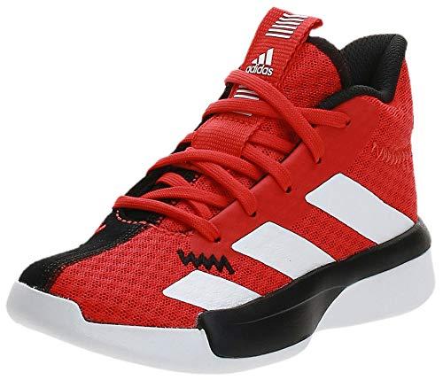 Adidas Pro Next 2019 K, Zapatillas de Baloncesto Unisex Adulto, Multicolor (Rojact/Ftwbla/Negbás 000), 40 EU