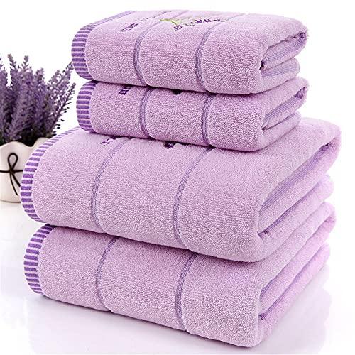 AoFeiKeDM Tres piezas de algodón lindo toallas de baño de lujo espesado y perfumado lavanda absorbente toalla extra grande