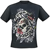 Photo de Guns N' Roses Firepower Homme T-Shirt Manches Courtes Noir XL, 100% Coton, Regular/Coupe Standard
