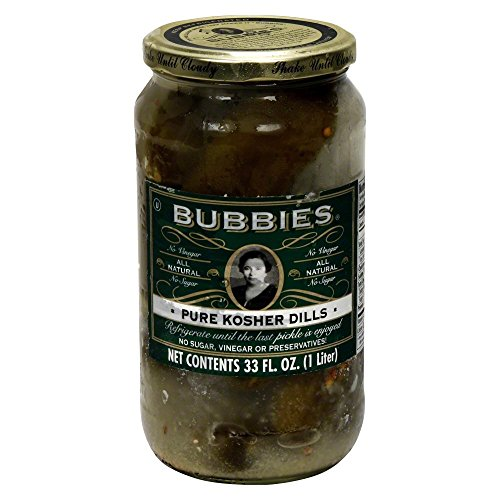 Bubbies Pure Kosher Dill Pickle 33.0 OZ(Pack of 2)