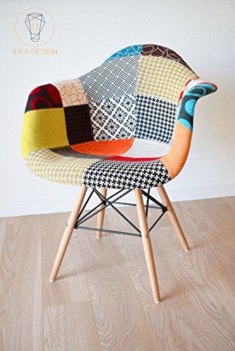 Fauteuil Nina Patchwork - Design scandinave