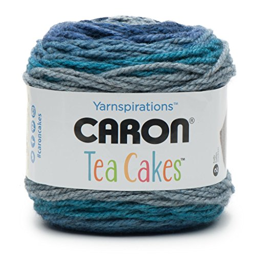 Caron Tea Cakes 240g Filato in Misto Lana, Dama, Grigio, 16x 16x 16cm