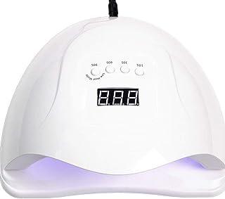 Wsaman Secador del Clavo 80W LED Led/UV del Clavo de la lámpara 3 Timer Modos con el Sensor automático y Pantalla LCD del Clavo de la lámpara para Nails/uñas de los pies,Blanco