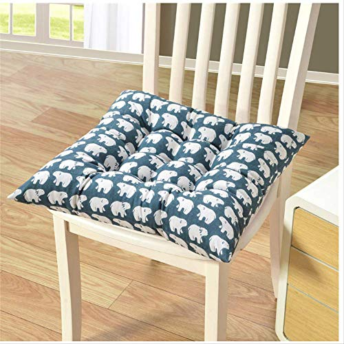 Cushion for New Plain Seat Pad Dining Room Garden Kitchen Chair Cushions Tie On for Chairs, Patio, Home Washable 40x40cm