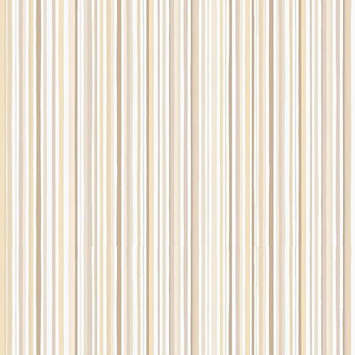 Cartes peint à rayures de différentes grandeurs et couleurs beige taupe/ocre style vintage Ry 3016–4Comics & More