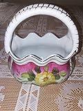 Vintage Formalities by Baum Bros. Rose Handled Basket Vase