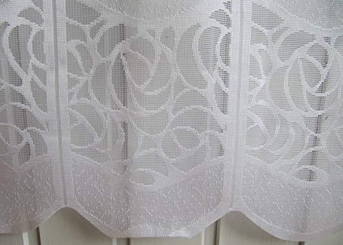Arinosa Scheibengardine Weiß durchbrochenes Muster 45 oder 60 cm Höhe, Höhe:60