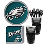 Party City Philadelphia Eagles Party Supplies for 18 Guests, Include Paper Plates, Paper Napkins, Cups, and Utensils