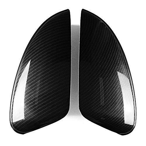 lilili Scheinwerfer Glasabdeckung 2pcs / Set ABS Carbon-Faser-Art Seitentür Flügel Rearviewspiegelabdeckung Trim Fit for Mazda 6 Atenza 2014 2015 2016 2017