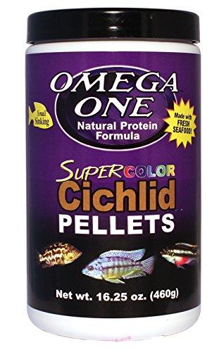 Omega One Super Color Naufrage Cichlid pellets, 2 mm Petit pellets, 16,25 oz