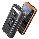 Portable Charger, ZONHOOD 38800mAh Solar Power Bank Fast Charging, 10W Wireless QC3.0 22.5W PD 20W,...