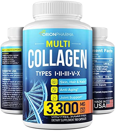 Multi Collagen Pills (Types I, II, III, V & X) -...