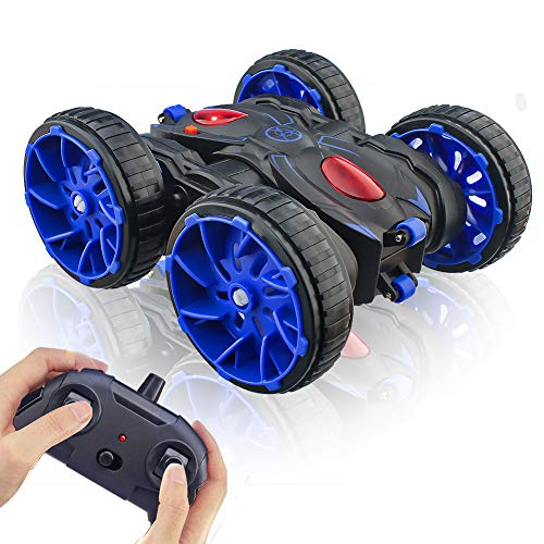 Remote Control Car,RC Cars Toy All Terrain Off Road 4WD Double Sided Running RC Stunt Car, Toy Cars 360° Rotation & Flips RC Crawler Birthday Gift for Girls & Boys Aged 4 5 6 7 8 9 10 11 12