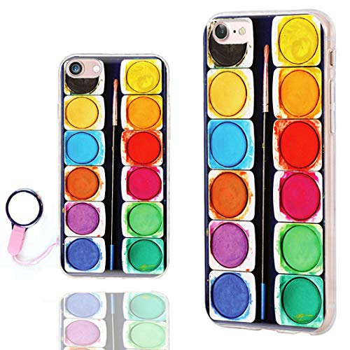 iPhone SE 2020 Case,iPhone 8 Case Cute,iPhone 7 Case Cool,ChiChiC Slim Flexible Soft TPU Rubber Protective Cases Cover for Apple iPhone 7 8 SE 2020 4.7 Inch,Colorful Watercolor Painting Box