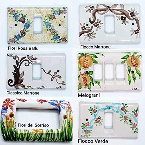 Placchette Bticino Living Magic Matix - Vimar Idea Plana Ceramica Handmade Le Ceramiche del Castello Made in Italy