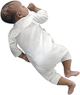 Newborn Unisex Baby Girl Boy Angel Wings Romper Cotton One Peice Long Sleeve Bodysuit Pajamas Outfits