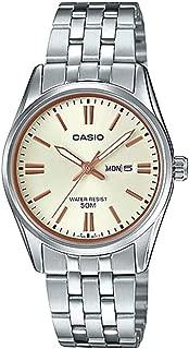 Casio LTP1335D-9AV Women's Standard Dress Analog Stainless Steel Day Date Gold Dial Watch