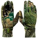 Mossy Oak Lightweight Hunting Gloves for Men, Bow Hunting Gloves