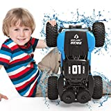 WQ Amphibious RC Car Toy Remote Control Car Boat, Super Load-Bearing 4WD Off Road Racing Car, 1:12 Scale RC Truck - All Terrain Waterproof Toys Trucks for Kids and Adult