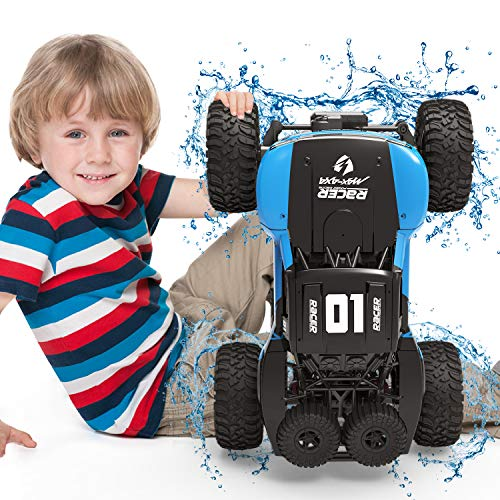 Amphibious RC Car Toy Remote Control Car Boat, Super Load-Bearing 4WD Off Road Racing Car, 1:12 Scale RC Truck - All Terrain Waterproof Toys Trucks for Kids and Adult