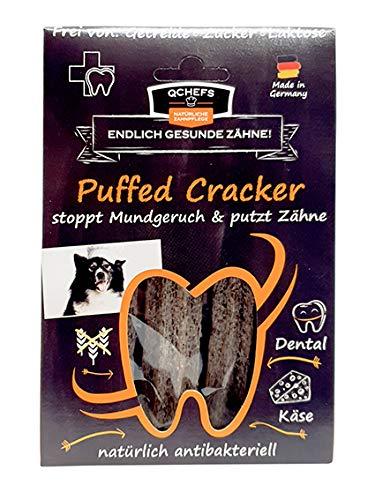 QCHEFS Puffed Cracker 5er | chien combattants de plaque | pas de gluten | dentaire allergiques | contre le tartre | fromage blanc