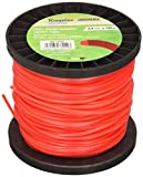 Riegolux 107666 Hilo Desbrozadora Nylon Cuadrada, Rojo, 2.4 mm x 100 m