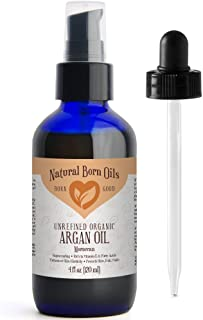 4oz Moroccan Argan Oil, 100% Pure and Natural, Cold-pressed, Organic – Works Magic on Your Skin and Hair - Includes Pump & Dropper