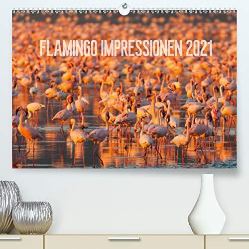 Flamingo Impressionen 2021 (Premium, hochwertiger DIN A2 Wandkalender 2021, Kunstdruck in Hochglanz)