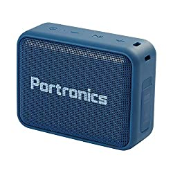 Portronics Dynamo Bluetooth 5.0 Portable Stereo Speaker with TWS, USB Music & FM Music and Clear Bass Sound, 5W, Blue,Portronics,Dynamo