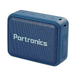 Portronics Dynamo Bluetooth 5.0 Portable Stereo Speaker with TWS, USB Music & FM Music and Clear Bass Sound, 5W, Blue,Portronics,Dynamo
