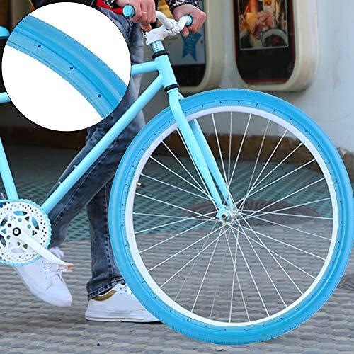 Demeras Pneumatico per Bicicletta Bicicletta Ciclismo Equitazione Pneumatico tubeless Ruota 26 Pollici 700x23C Bici da Strada Gomma Solida Antiscivolo Resistente per la Guida(700 * 23 Blue)