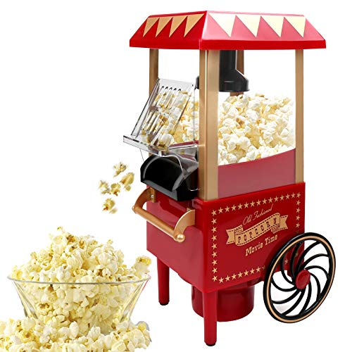 VAlinks Hot Air Popcorn Machine, Popcorn Maker, 1200W Home Electric Popcorn Popper with Kernel Measuring Scoop, Healthy Oil-Free & BPA-Free for Home, Birthday Party, Movie Night or Christmas