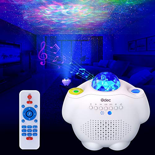 Odec Galaxy Star Projector, Night Light with Bluetooth Speaker and Nebula Galaxy LED Light and Voice Control Lamp for Valentine's Day Gift Baby Rooms Starlight Dinners Game Rooms Home Party Gift