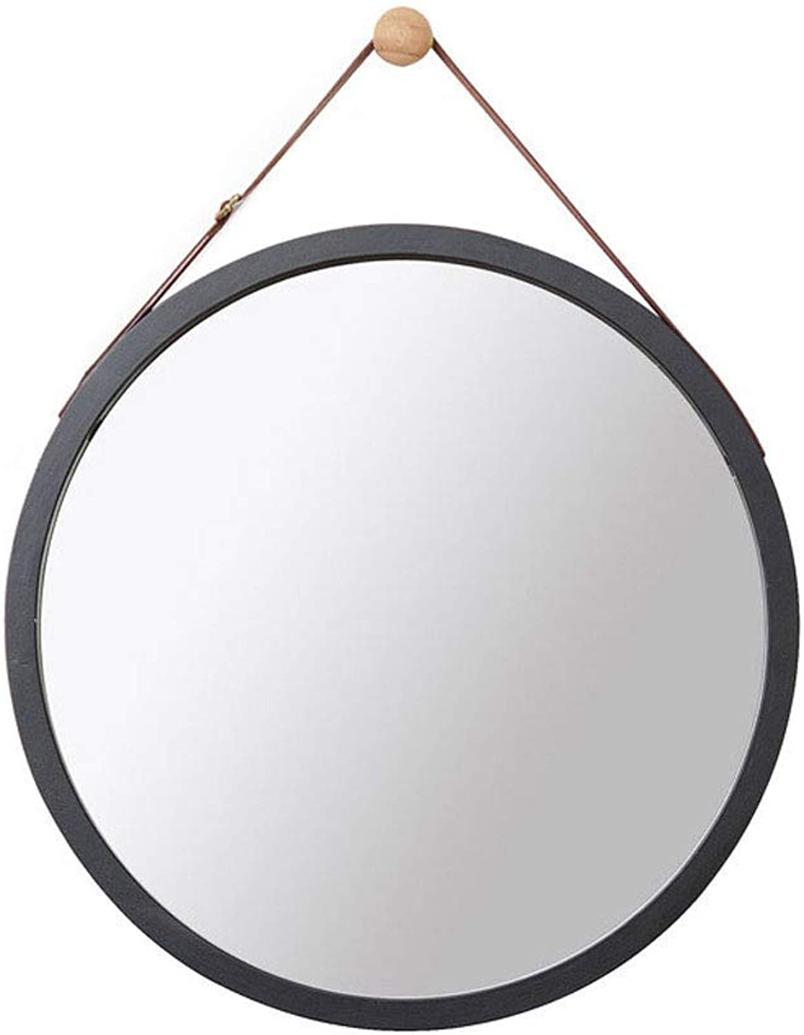 Nordic Style Black Wall Hanging Round Mirror Bathroom Mirror Dressing Mirror (Size   S) (color   -, Size   L)