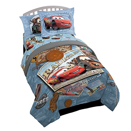Jay Franco Cars Tune Up 5 Piece Twin Bed Set (Offical Disney Pixar Product)
