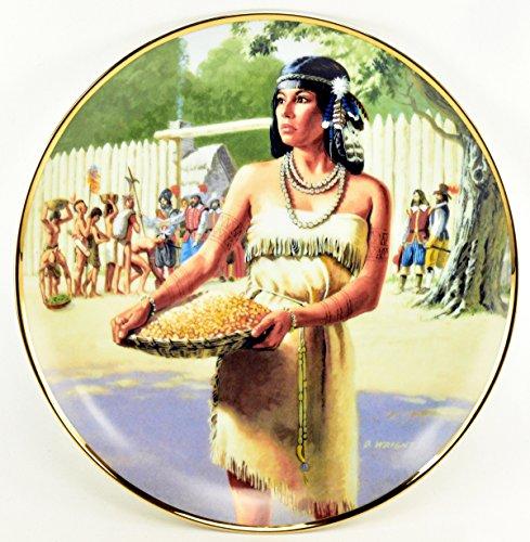 "David Wright Hamilton Collection Native American Woman Plate ""POCAHONTAS"" c1990"