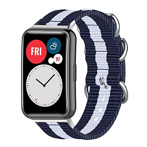 Jxfrice 2021 New Watch Band/ Replacement Wrist Strap/Silicone Wristband Watch Straps - Compatible for HUAWEI Watch FIT - Adjustable Sport Canvas Wristband
