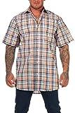 Jack Gordon Herren Hemd Kurzarm Freizeithemd in sommerlicher Farbe - auch in Übergrösse erhältlich, Farbe:gelb, Größe:49-50